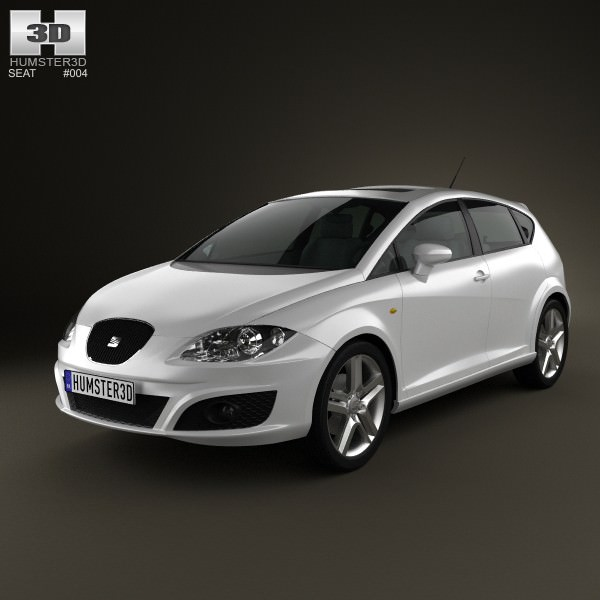 seat leon 2009 3d model max obj 3ds fbx c4d lwo lw lws. Black Bedroom Furniture Sets. Home Design Ideas