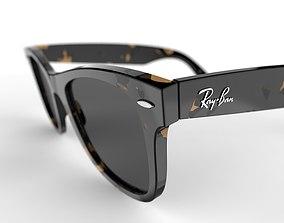 3D model eyewear Ray Ban Wayfarers