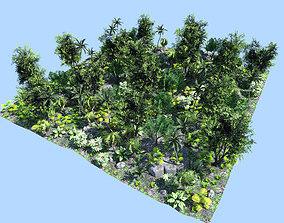 3D model deep jungle scene