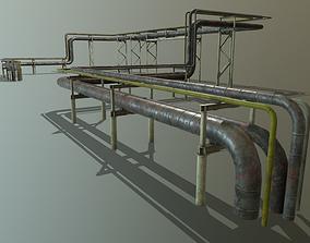 3D model Modular industrial pipeline PBR