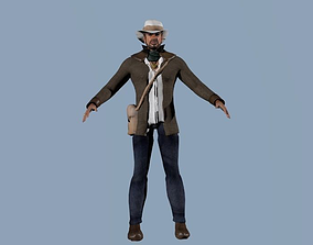 Rigged character 98 game animations 3D asset
