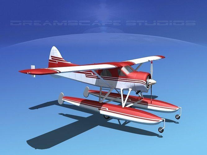 dehavilland dhc-2 beaver v12 3d model max obj mtl 3ds lwo lw lws dxf stl 1