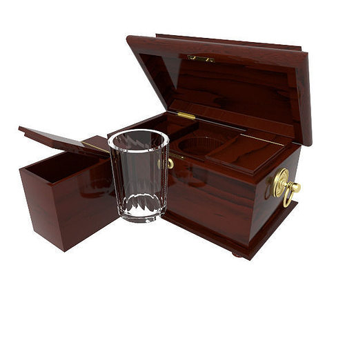 Decorative Wooden Box 40D Model CGTrader Stunning Decorative Wooden Boxes With Lids