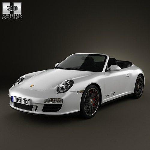 porsche 911 carrera gts cabriolet 2011 3d model max obj mtl 3ds fbx c4d lwo lw lws 1