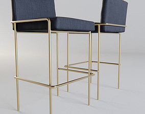 Phase Design Trolley Bar Stool 3D