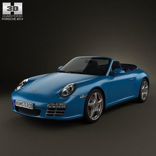 porsche 911 carrera 4s cabriolet 2011 3d model max obj mtl 3ds fbx c4d lwo lw lws 1
