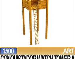 3d models conquistador watch tower a 1500