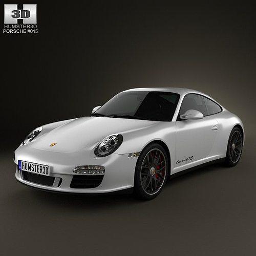 porsche 911 carrera gts coupe 2011 3d model max obj 3ds fbx c4d lwo lw lws 1