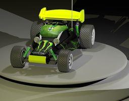 rc car 3d model rigged