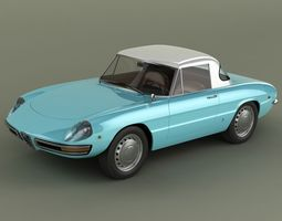 3D model Alfa Romeo Duetto Hardtop