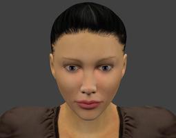 rigged realistic female VR / AR ready 3d model