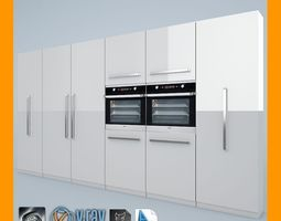 3d kitchen set 01