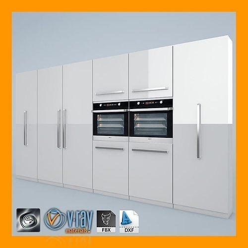 kitchen set 3d model max obj mtl 3ds fbx dxf 1