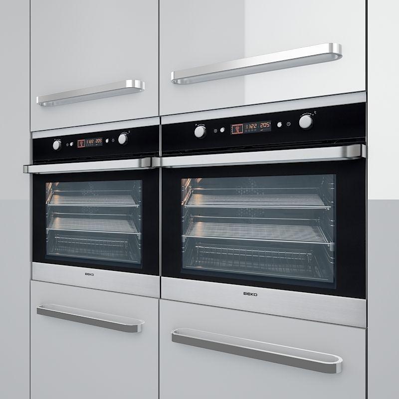 kitchen set 01 3d model max obj 3ds fbx dxf