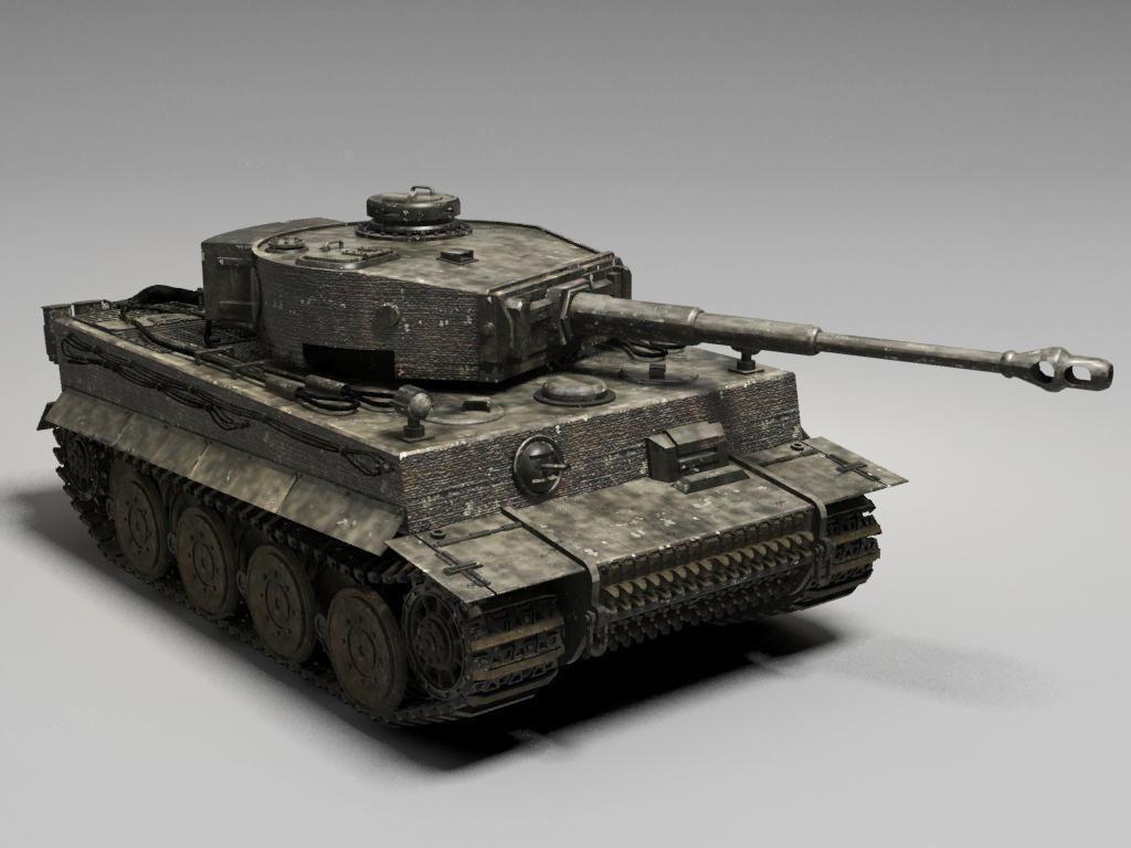 3D German Tiger Tank   CGTrader