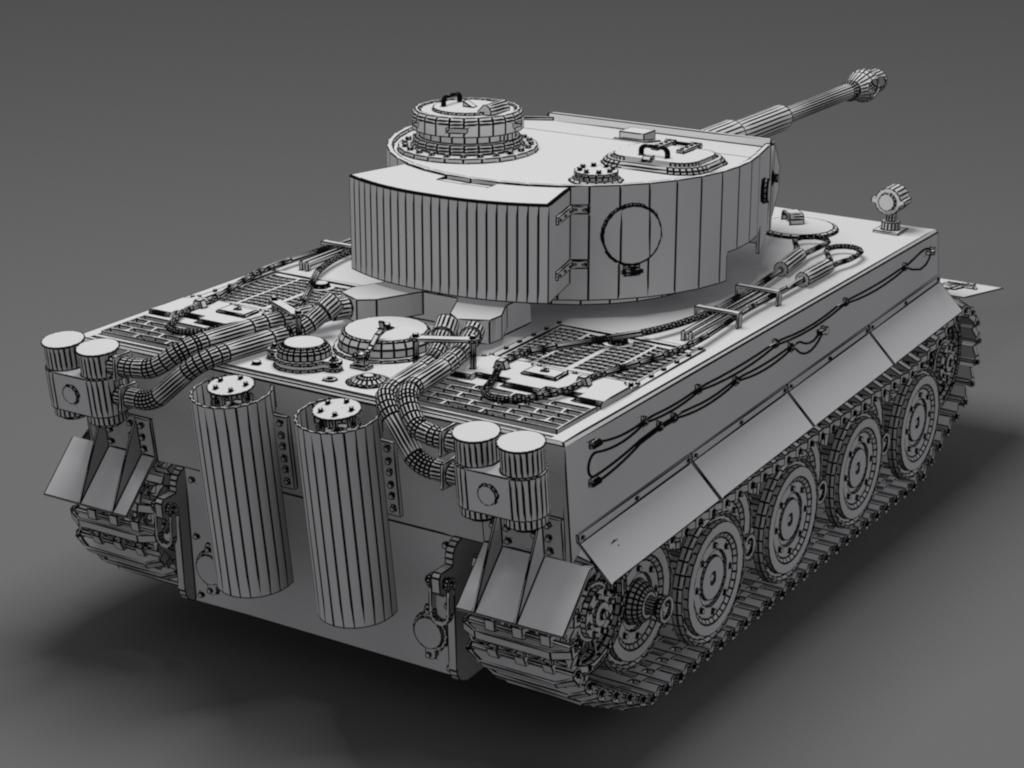 German tiger tank free d model max ds skp cgtrader