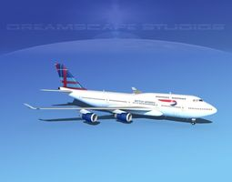 3D Boeing 747-400 British Airways