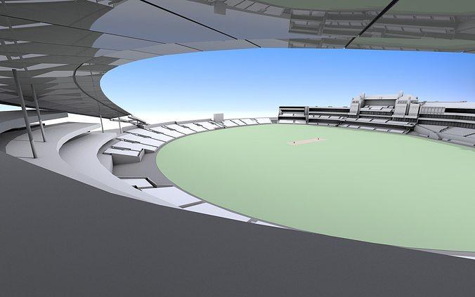 the oval cricket ground  -  london 3d model obj mtl 3ds fbx c4d 1