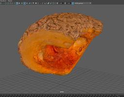 Slice of peanut pumpkin 3D model
