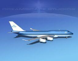 Boeing 747-400 KLM 3D