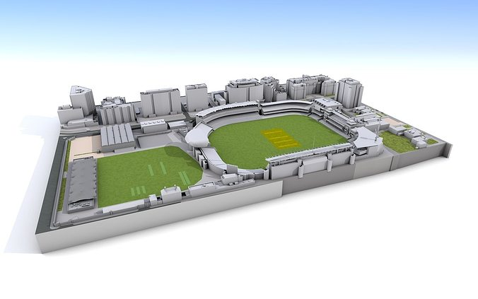 lords cricket ground  -  london 3d model obj mtl 3ds fbx c4d 1