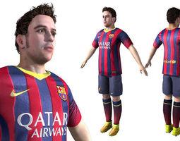 Football Soccer Player 3D Model