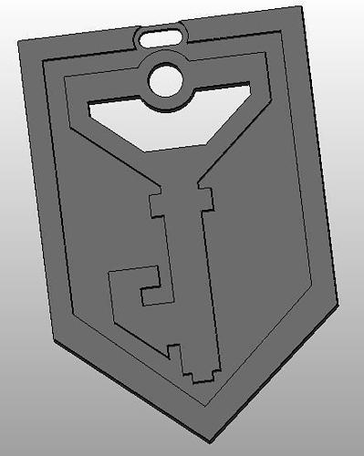 ingress logo - resistance keychain 3d model stl 1