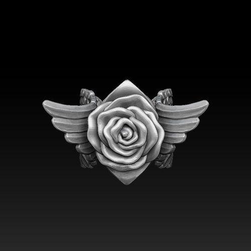 Rose Ring 3D Model 3D Printable STL