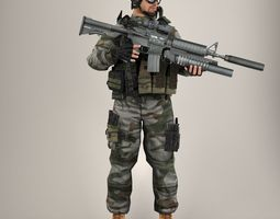 Soldier Lite V1 Rigged 3D model
