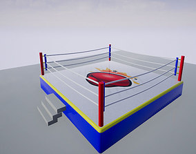Boxing Ring 3D model VR / AR ready