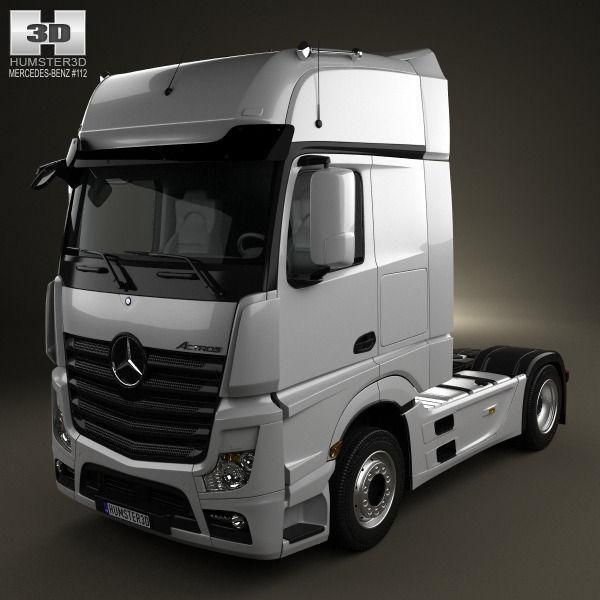 Mercedes Benz Actros 1851 Tractor Truck 2013 3d Cgtrader
