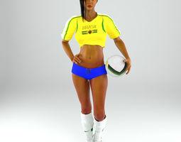 Soccer Lady Lite V1 Rigged 3D model