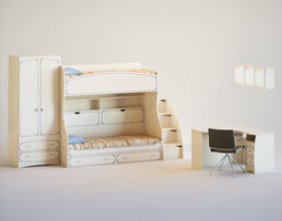 Cot for children 3D