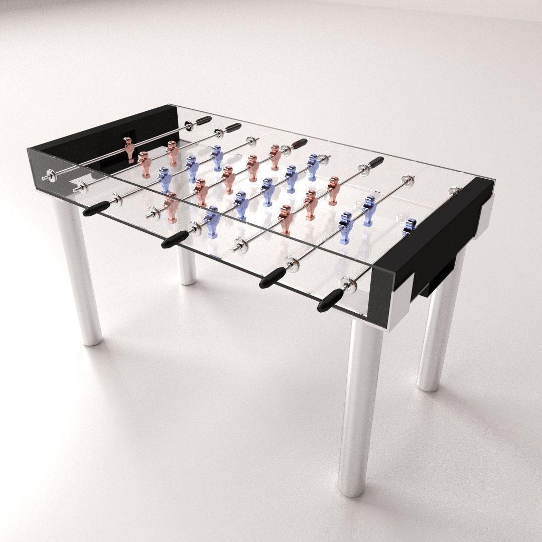Foosball table 3d model 3ds fbx blend dae for Table 3d model