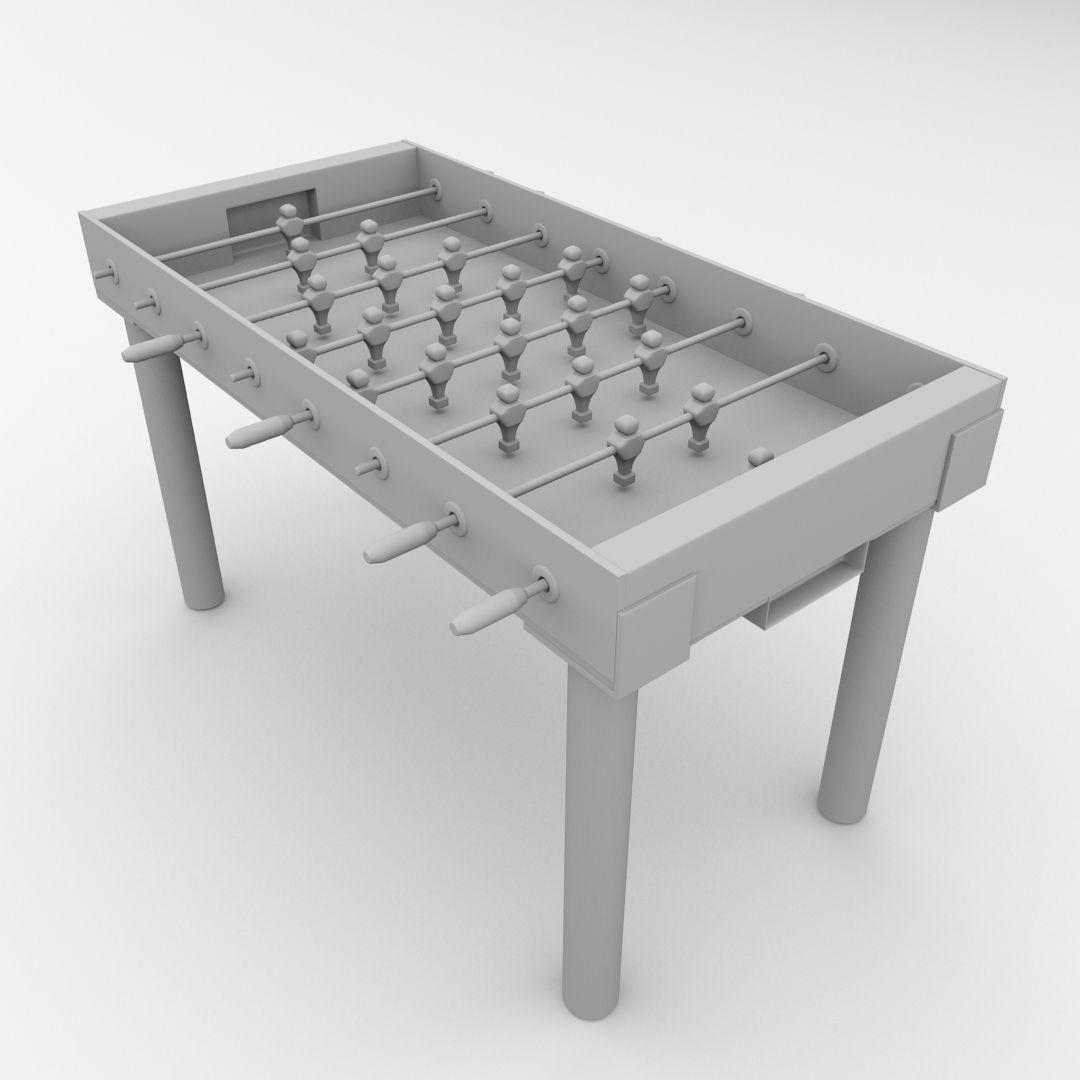 Foosball Table 3d Model 3ds Fbx Blend Dae Cgtrader Com