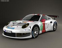 porsche 911 carrera 991 rsr 2013 3d
