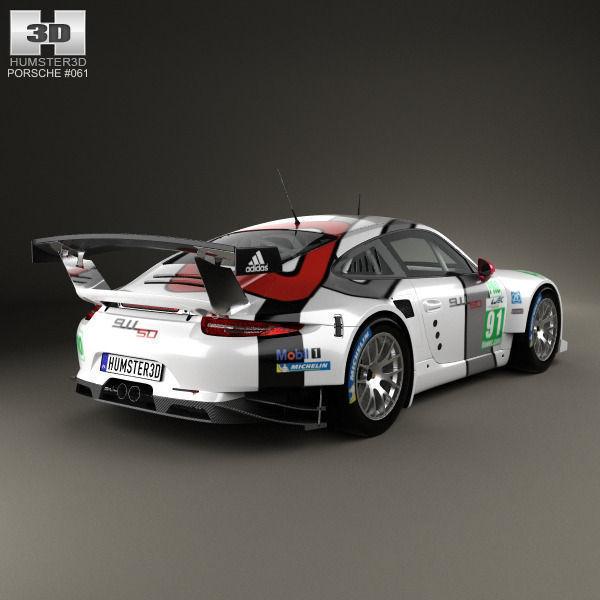 Porsche 911 Carrera 991 Rsr 2013 3d Model Cgtrader