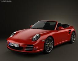 Porsche 911 Turbo Cabriolet 2011 3D model