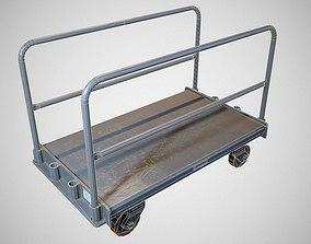 3D asset Warehouse Push Cart - Game ready prop