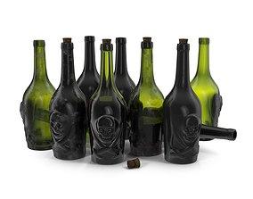 Rum pirate bottle 3D model