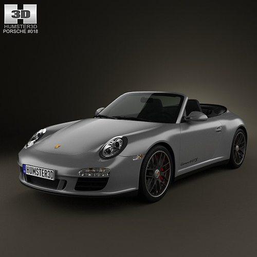porsche 911 carrera 4gts cabriolet 2011 3d model max obj mtl 3ds fbx c4d lwo lw lws 1