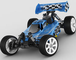 rigged RC buggy model
