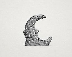 Voronoi Moon - PROMOTION 3D print model