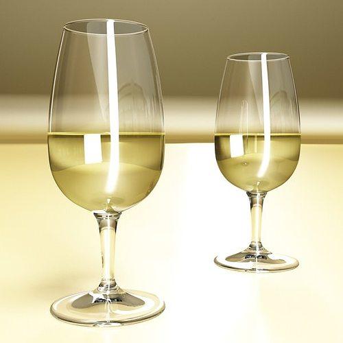 6 wine glass collection 3d model max obj 3ds fbx 8