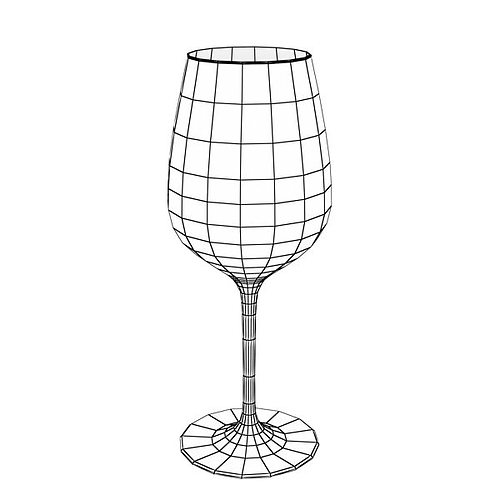 6 wine glass collection 3d model max obj 3ds fbx 15
