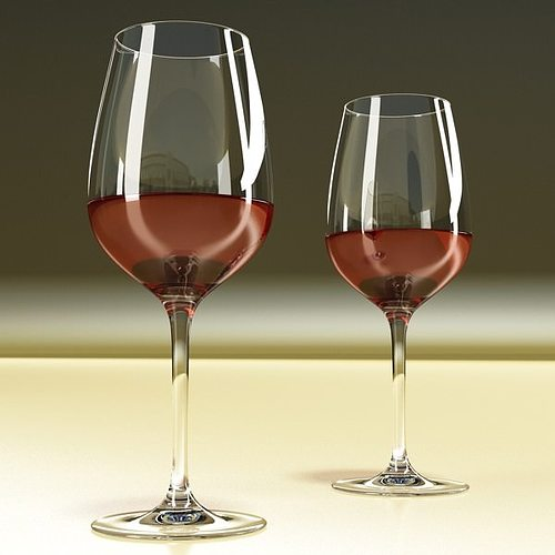 6 wine glass collection 3d model max obj 3ds fbx mtl mat 12