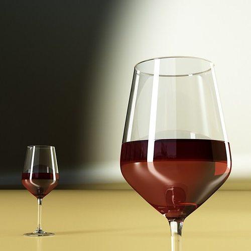 6 wine glass collection 3d model max obj 3ds fbx 24
