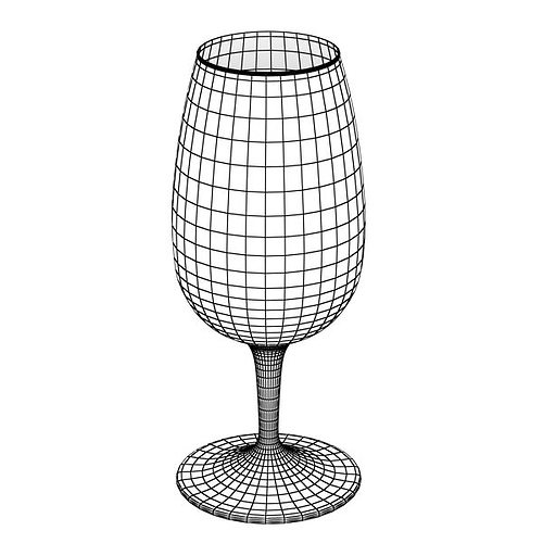 6 wine glass collection 3d model max obj 3ds fbx mtl mat 10