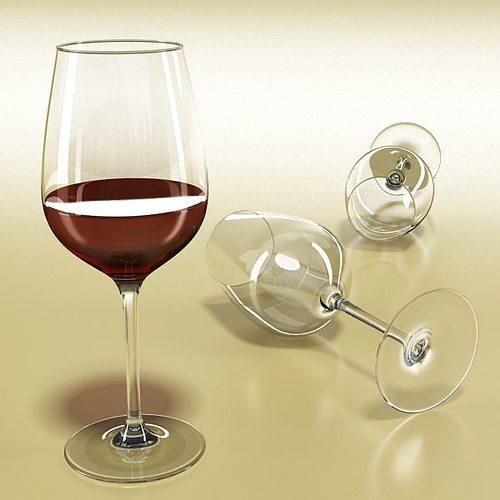 6 wine glass collection 3d model max obj 3ds fbx 13