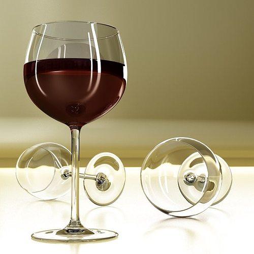 6 wine glass collection 3d model max obj 3ds fbx 17